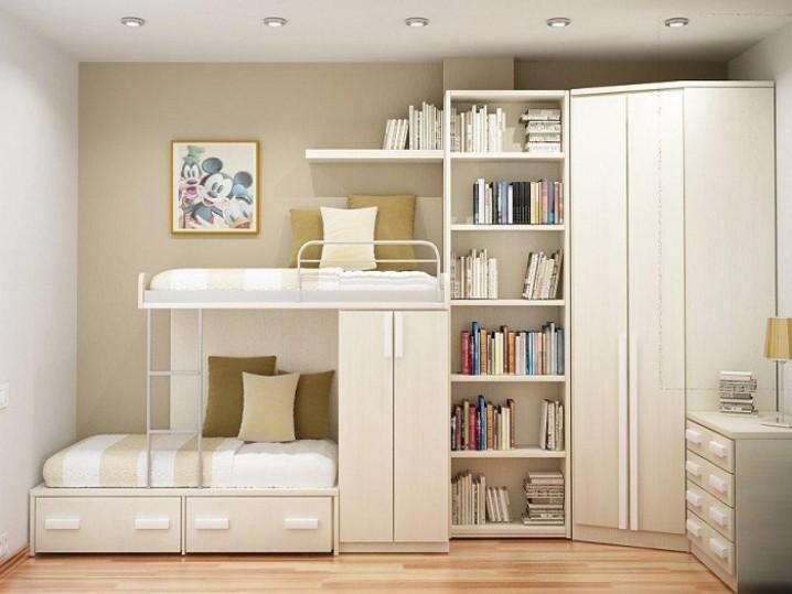 Giường ngủ tiết kiệm không gian phòng ngủ trẻ em
