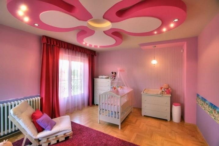 Phòng ngủ trẻ em bắt mắt với thiết kế trần ấn tượng