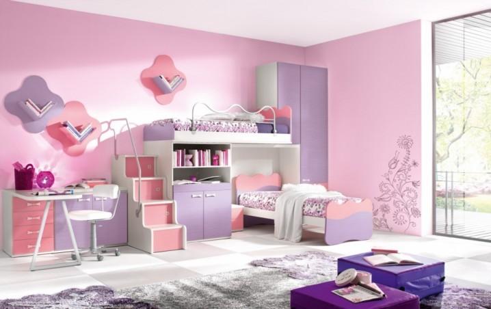 Phòng ngủ Twin đáng yêu dành cho hai cô con gái