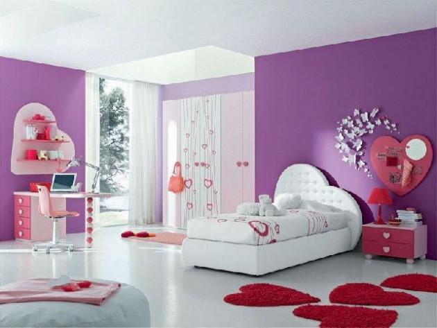 Màu hồng dễ thương cho phòng ngủ bé gái